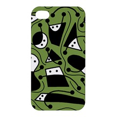 Playful abstract art - green Apple iPhone 4/4S Hardshell Case
