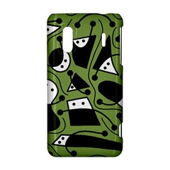Playful abstract art - green HTC Evo Design 4G/ Hero S Hardshell Case