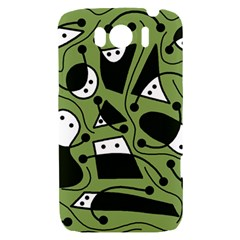 Playful abstract art - green HTC Sensation XL Hardshell Case