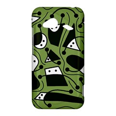 Playful abstract art - green HTC Droid Incredible 4G LTE Hardshell Case