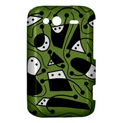 Playful abstract art - green HTC Wildfire S A510e Hardshell Case