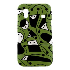 Playful abstract art - green Samsung Galaxy Ace S5830 Hardshell Case