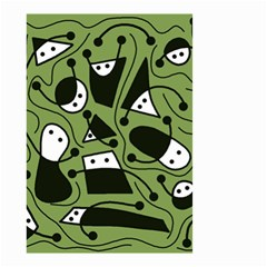 Playful abstract art - green Small Garden Flag (Two Sides)