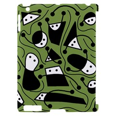 Playful abstract art - green Apple iPad 2 Hardshell Case (Compatible with Smart Cover)