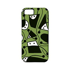Playful abstract art - green Apple iPhone 5 Classic Hardshell Case (PC+Silicone)