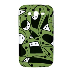Playful abstract art - green Samsung Galaxy Grand DUOS I9082 Hardshell Case