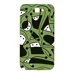 Playful abstract art - green Samsung Note 2 N7100 Hardshell Back Case