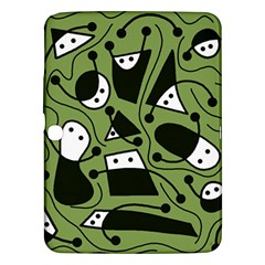 Playful abstract art - green Samsung Galaxy Tab 3 (10.1 ) P5200 Hardshell Case