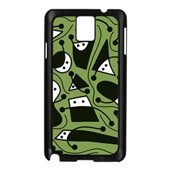 Playful Abstract Art   Green Samsung Galaxy Note 3 N9005 Case (black)