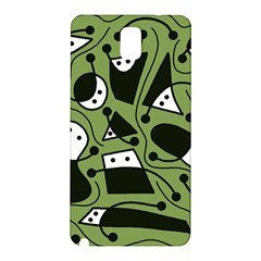 Playful abstract art - green Samsung Galaxy Note 3 N9005 Hardshell Back Case