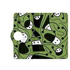 Playful abstract art - green Kindle Fire HDX 8.9  Flip 360 Case