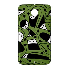 Playful abstract art - green Nexus 6 Case (White)