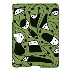 Playful abstract art - green Samsung Galaxy Tab S (10.5 ) Hardshell Case