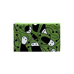 Playful abstract art - green Cosmetic Bag (XS)