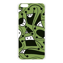 Playful abstract art - green Apple Seamless iPhone 6 Plus/6S Plus Case (Transparent)