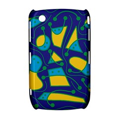 Playful abstract art - blue and yellow Curve 8520 9300