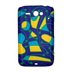 Playful abstract art - blue and yellow HTC ChaCha / HTC Status Hardshell Case