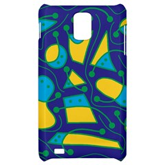 Playful abstract art - blue and yellow Samsung Infuse 4G Hardshell Case