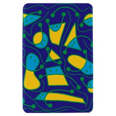 Playful abstract art - blue and yellow Kindle Fire (1st Gen) Hardshell Case