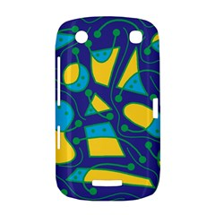 Playful abstract art - blue and yellow BlackBerry Curve 9380