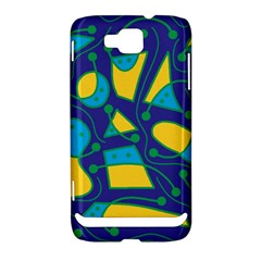 Playful abstract art - blue and yellow Samsung Ativ S i8750 Hardshell Case