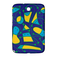 Playful abstract art - blue and yellow Samsung Galaxy Note 8.0 N5100 Hardshell Case