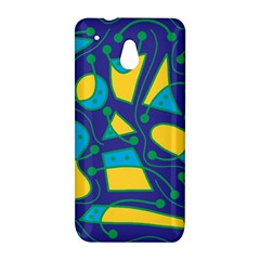Playful abstract art - blue and yellow HTC One Mini (601e) M4 Hardshell Case