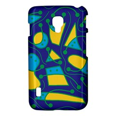 Playful abstract art - blue and yellow LG Optimus L7 II