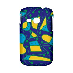Playful abstract art - blue and yellow Samsung Galaxy S6310 Hardshell Case
