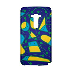 Playful abstract art - blue and yellow LG G Flex