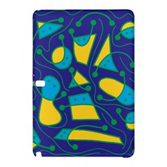 Playful abstract art - blue and yellow Samsung Galaxy Tab Pro 10.1 Hardshell Case
