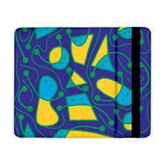 Playful abstract art - blue and yellow Samsung Galaxy Tab Pro 8.4  Flip Case