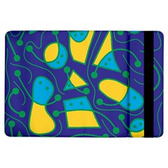 Playful abstract art - blue and yellow iPad Air Flip
