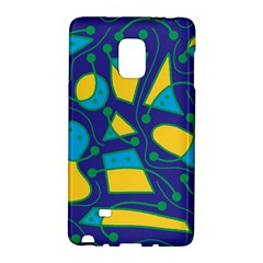 Playful abstract art - blue and yellow Galaxy Note Edge