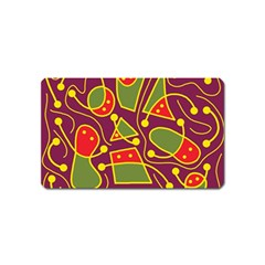 Playful decorative abstract art Magnet (Name Card)