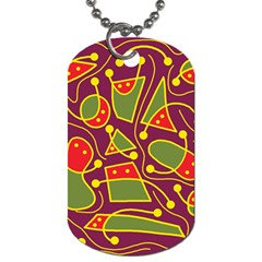 Playful decorative abstract art Dog Tag (One Side)