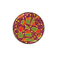 Playful decorative abstract art Hat Clip Ball Marker (4 pack)