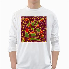 Playful decorative abstract art White Long Sleeve T-Shirts