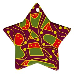 Playful decorative abstract art Star Ornament (Two Sides)