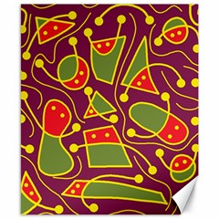 Playful decorative abstract art Canvas 8  x 10