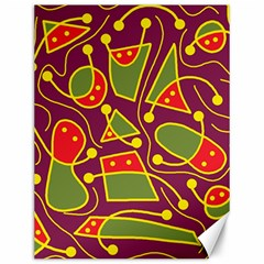 Playful decorative abstract art Canvas 12  x 16