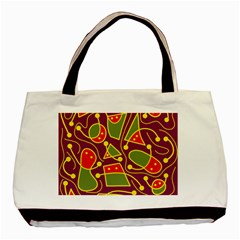 Playful decorative abstract art Basic Tote Bag (Two Sides)