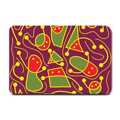 Playful decorative abstract art Small Doormat