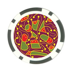Playful decorative abstract art Poker Chip Card Guards