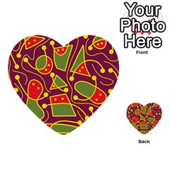 Playful decorative abstract art Multi-purpose Cards (Heart)