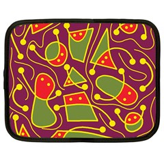 Playful decorative abstract art Netbook Case (Large)