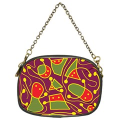 Playful decorative abstract art Chain Purses (One Side)