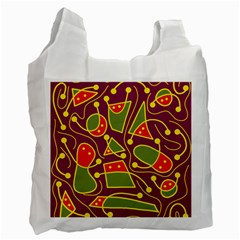 Playful decorative abstract art Recycle Bag (One Side)
