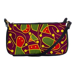 Playful decorative abstract art Shoulder Clutch Bags