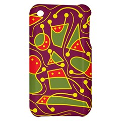 Playful decorative abstract art Apple iPhone 3G/3GS Hardshell Case